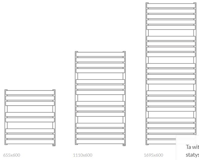 Θερμαντικό Σώμα / Πετσετοκρεμάστρα TERMA Warp T One - Τεχνικά Χαρακτηριστικά