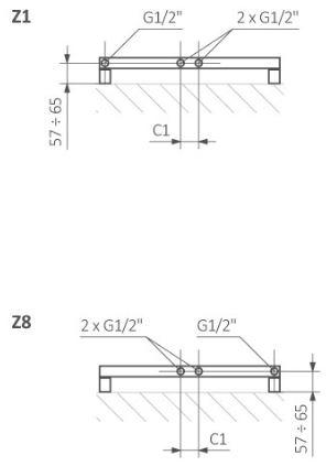 Πετσετοκρεμάστρα TERMA ZigZag - Συνδέσεις